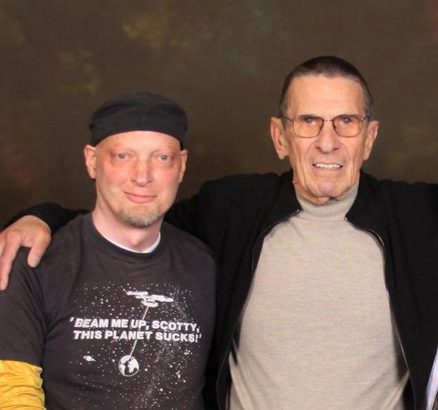 pat tassoni with leonard nimoy aka spock star trek